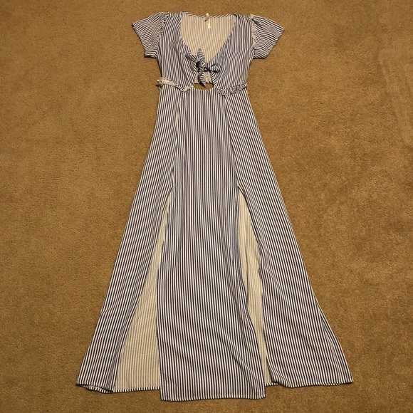 b628d9ed2fb71 True Destiny Dresses | Blue And White Striped Summer Dress | Poshmark